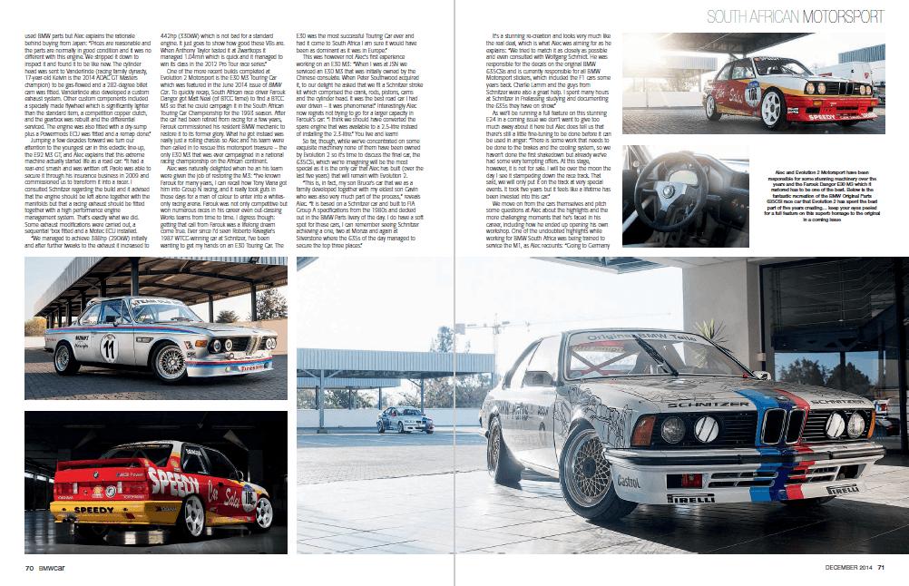 BMW Car December 2014 Pages 70 71