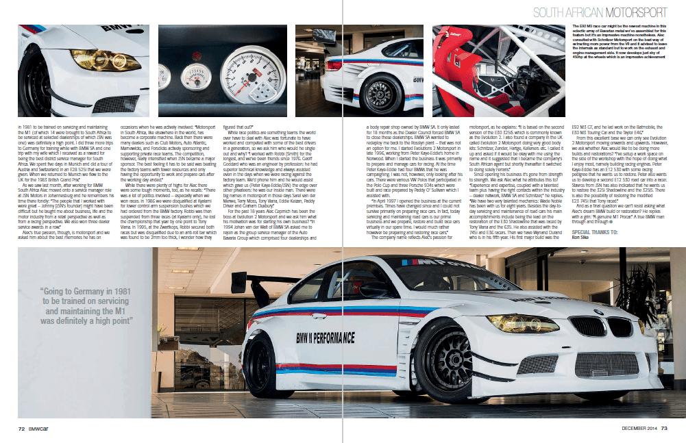 BMW Car December 2014 Pages 72 73