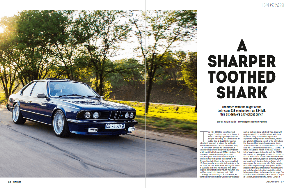 BMW Car January 2016 Pages 66 67