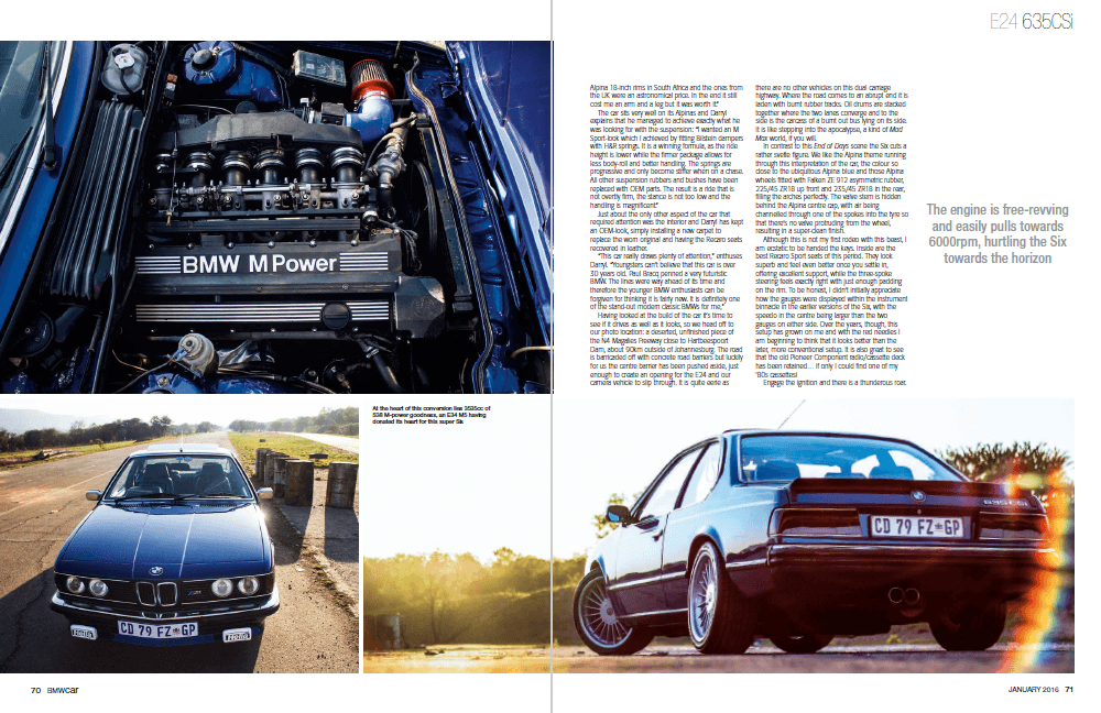 BMW Car January 2016 Pages 70 71