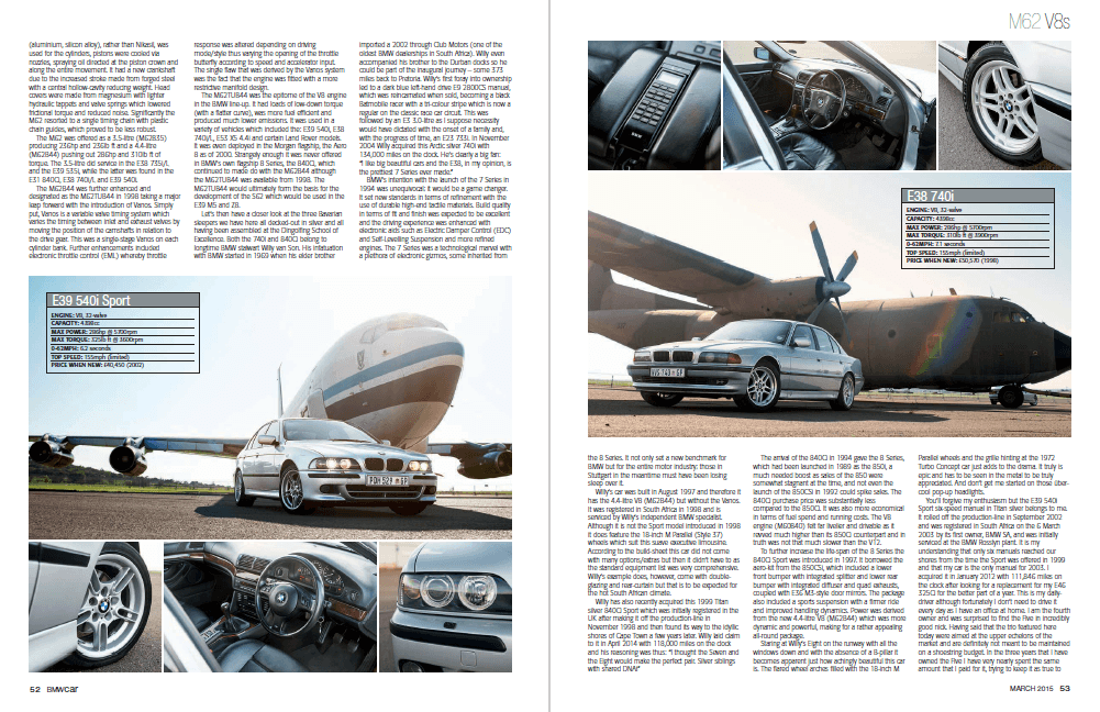 BMW Car March 2015 Pages 52 53