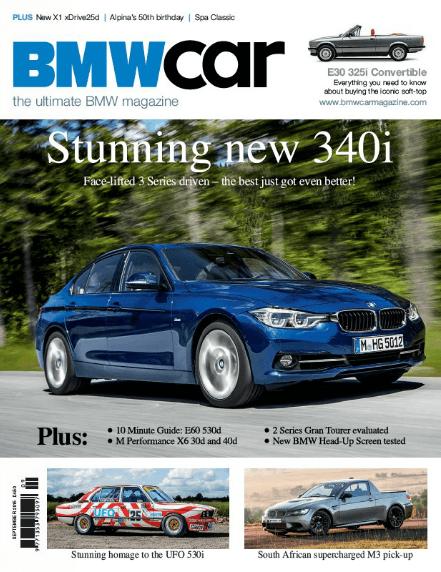 BMW Car September 2015 Cover