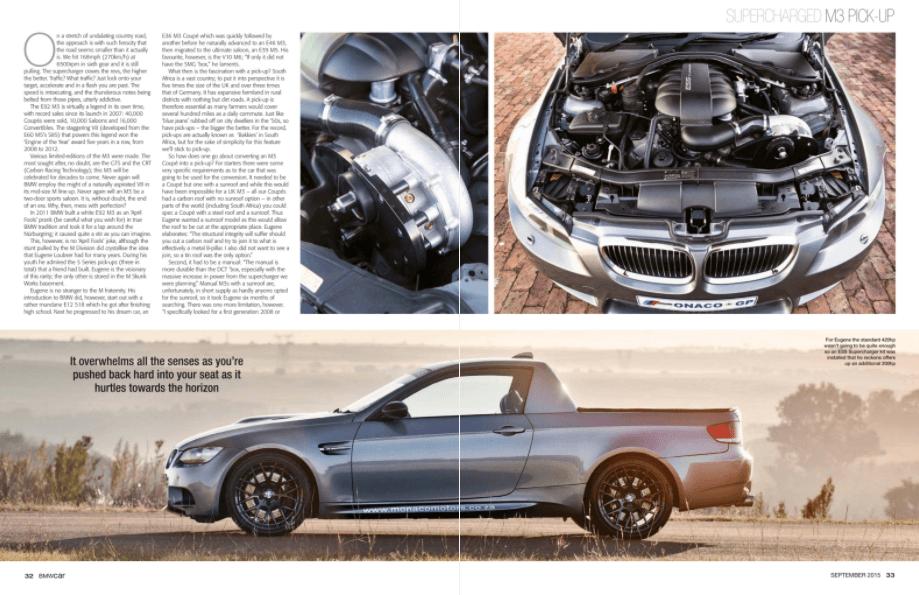 BMW Car September 2015 Pages 32 33