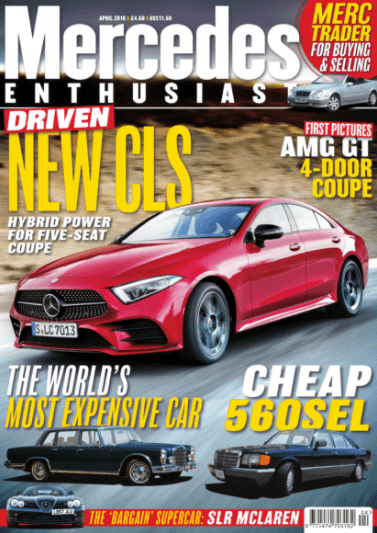 Mercedes Enthusiast Aril 2018 Cover