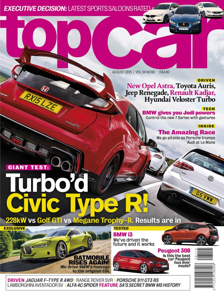 topcar August 2015 Cover